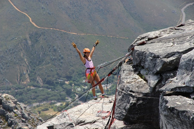 Abseil off Table Mountain